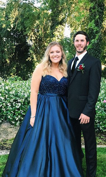 Sweetheart Beaded Long Plus Size Prom Dress Custom Made Long Satin Beadings  Evening Gowns Fashion Long Navy Blue School Dance Dresses PD698