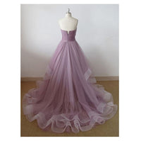 Elegant Sweehteart Tulle A-Line Prom Dress Custom Made Fashion Long Evening Party Dresses sweet 16th Dresses PD384