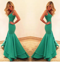 Sexy Mermaid Satin Prom Dress Custom Made Fashion Sweetheart Long Evening Gowns PD291