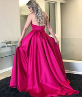 Sweetheart long Side Slit Prom Dress Custom Made Long Evening Party Dresses Fashion Long School Dance Dresses PD726