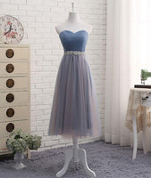 Simple Sweetheart Bridesmaid Dress with Beaded Waist Custom Made Fashion Tulle Beadings Wedding Party Dresses BD090