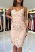 Sweetheart Lace Short Prom Dress with Spaghetti Straps Custom Made Short Homecoming Dress Fashion Short School Dance Dress PDS065