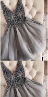 Sparkly Beaded Short Tulle Homecoming Dress Custom Made Cute Cocktail Dress Fashion Short Sequined School Dance Dresses Short Women's Fashion Dresses HD209