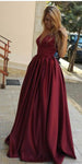 Simple V-Neck Long Prom Dress Custom Made Long Evening Gowns Fashion Long School Dance Dress Women's Pagent Dresses PD902