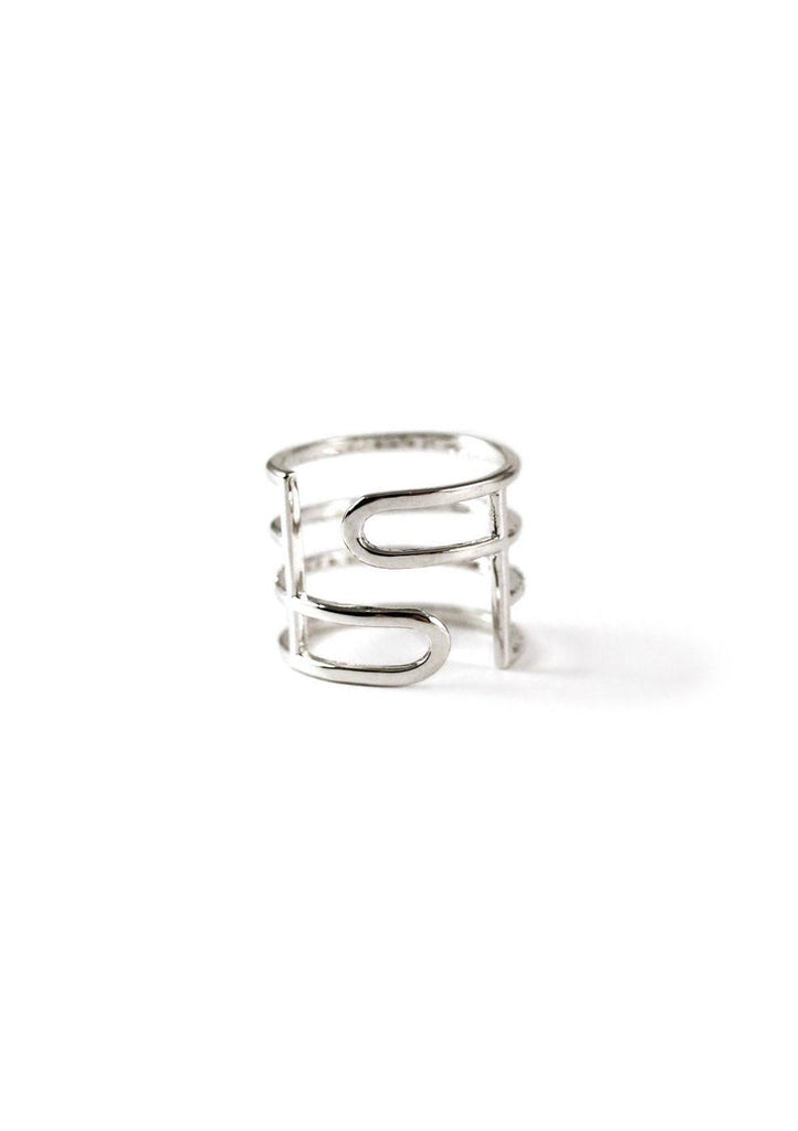 4 Lines Layered Cubic Ring Silver Online Jewelry Kollidea 3