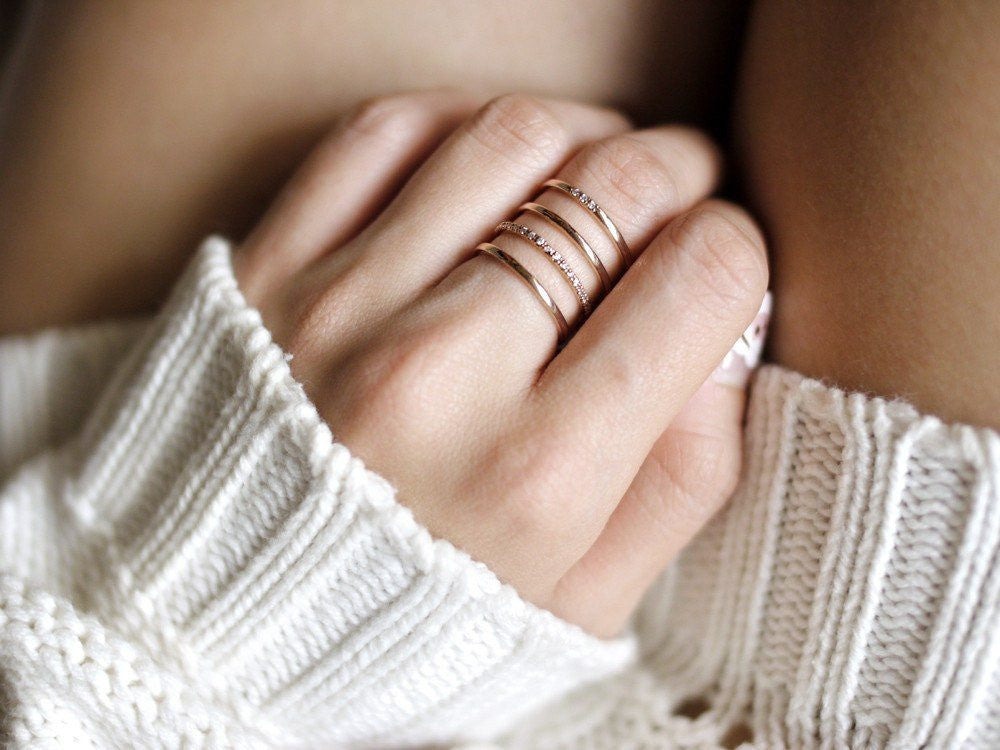 accessories ring rose gold kollidea