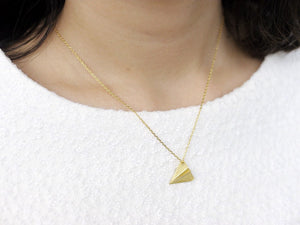 Aeroplane Necklace - Gold