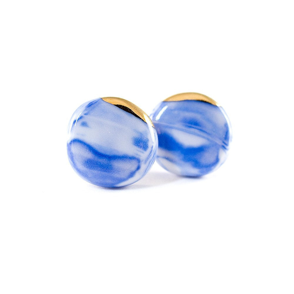 Cecolors Earring Blue Circle Kollidea