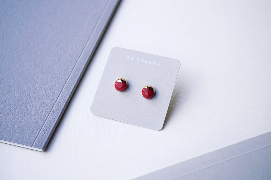 Cecolors Mini Earring Dark Red