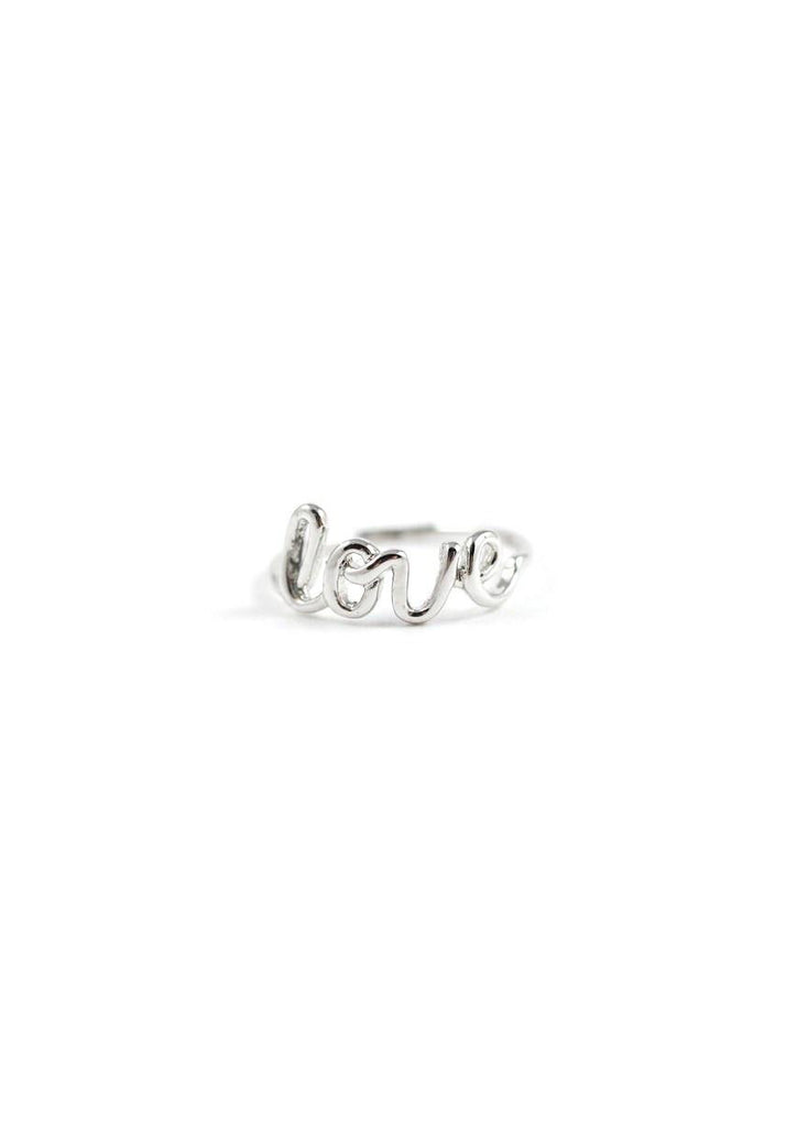 Cursive Long Ring Silver Online Accessories Kollidea 5