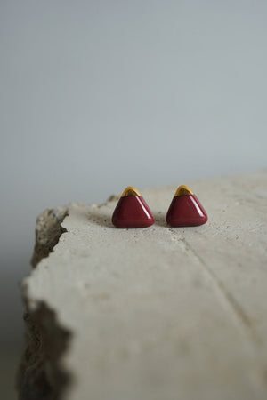 Cecolors - Red Pear Earring