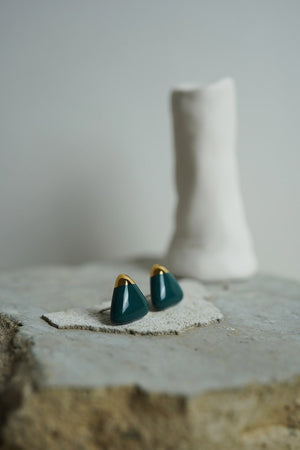 Cecolors - Deep Cobalt Green Earring