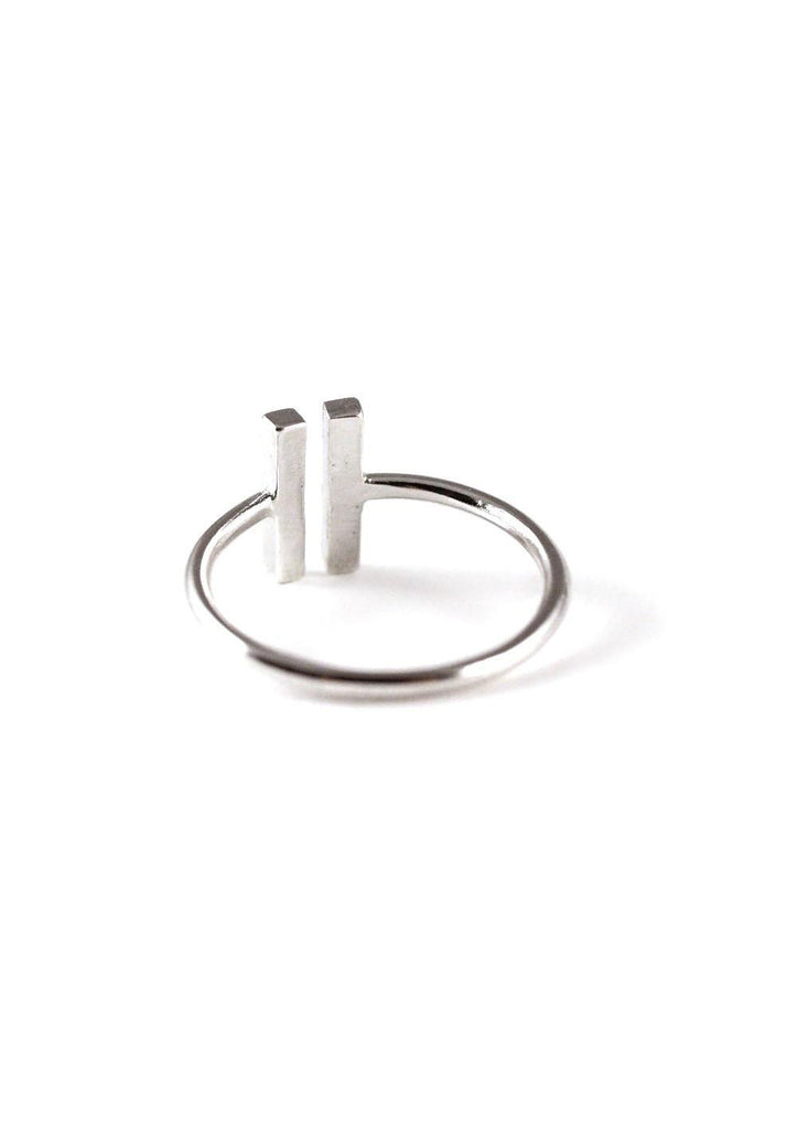 Double Rectangle Silver Ring Online Accessories Kollidea 3
