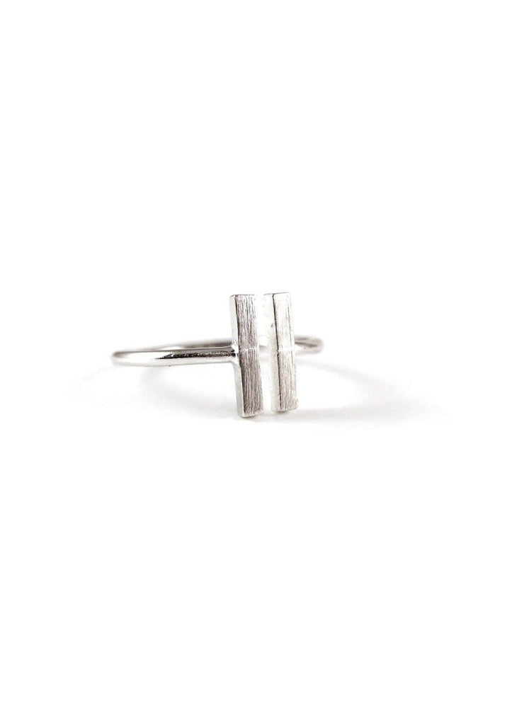 Double Rectangle Silver Ring Online Accessories Kollidea 1