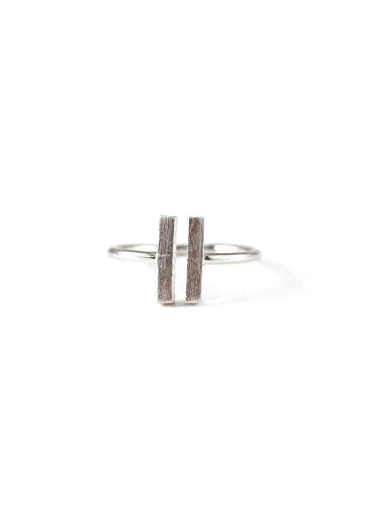 Double Rectangle Silver Ring Online Accessories Kollidea 4