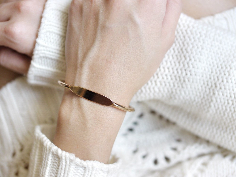 Lauren Flat Bangle - Rose Gold