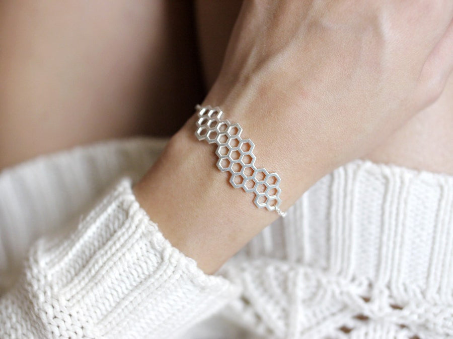 Accessories Honeycomb Bracelet Silver