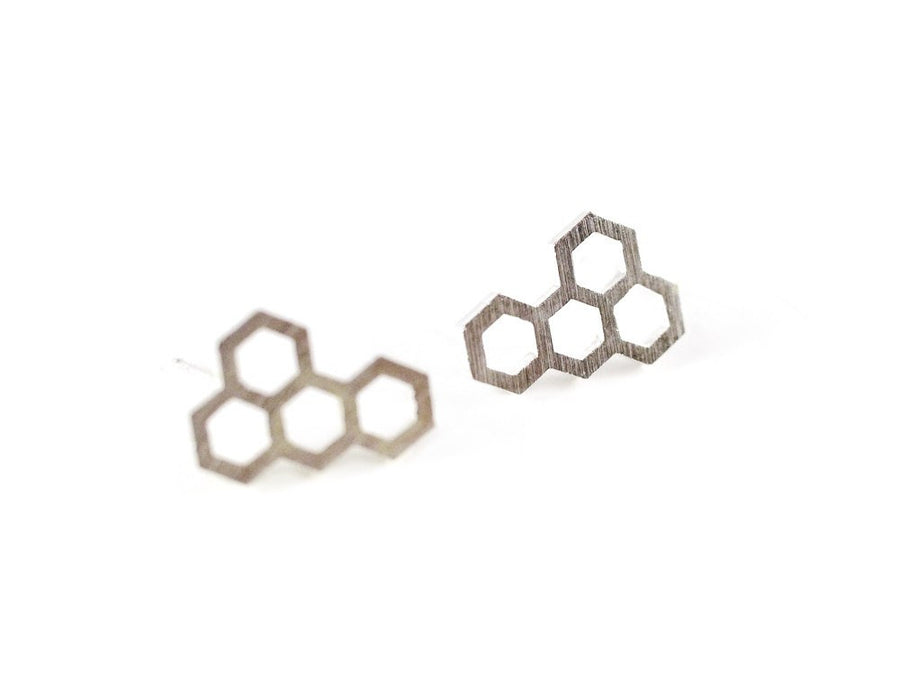 Honeycomb Earring - Silver