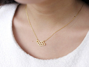 Honeycomb Necklace - Gold