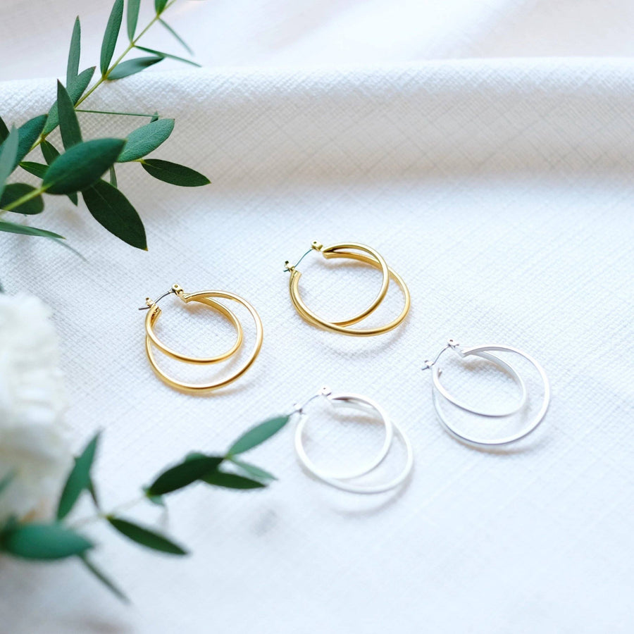 Lyla Double Hoop Earring 01