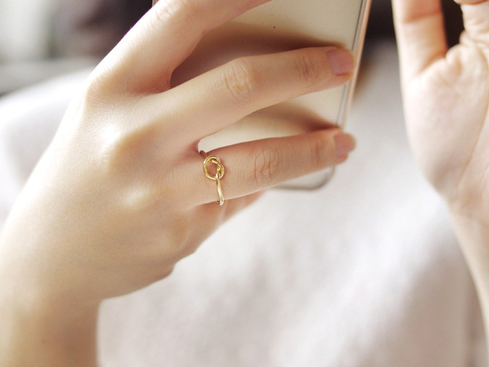 Eleanor Knot Ring - Gold