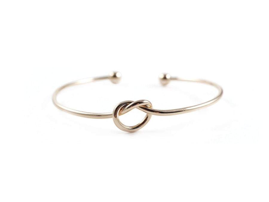 Eleanor Knot Bangle - Rose Gold