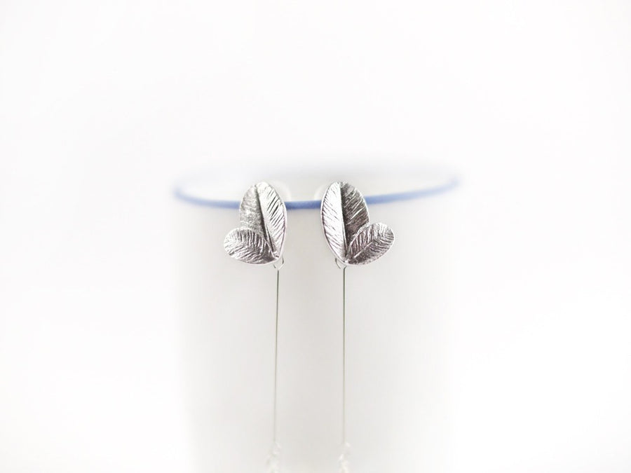 Petals Swarovski Drop Earring - Long Silver