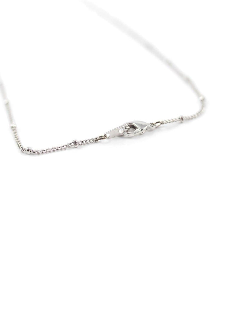 Silver Leaves Necklace Accessories Kollidea 1
