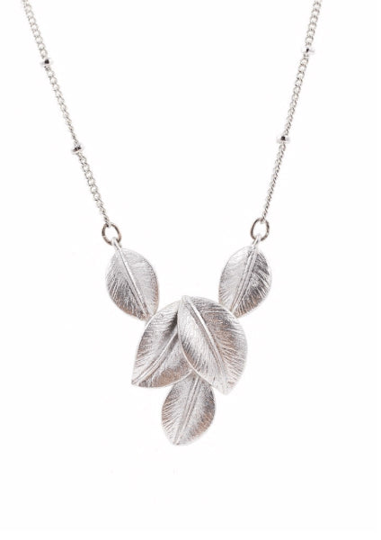 Silver Leaves Necklace Accessories Kollidea 2