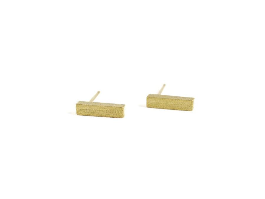 Rectangle Drop Earring - Gold