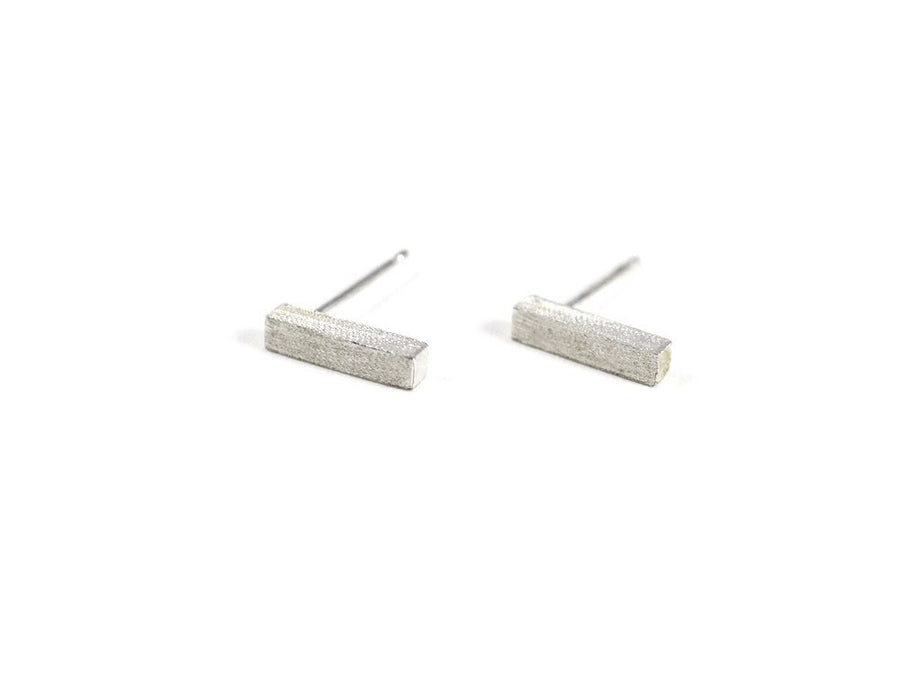 Rectangle Drop Earring - Silver
