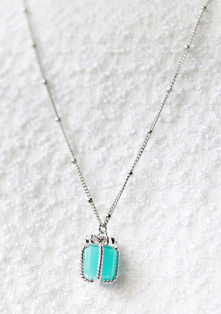 Necklace GiftBox Turquoise Silver Kollidea Accessories Jewelry Online