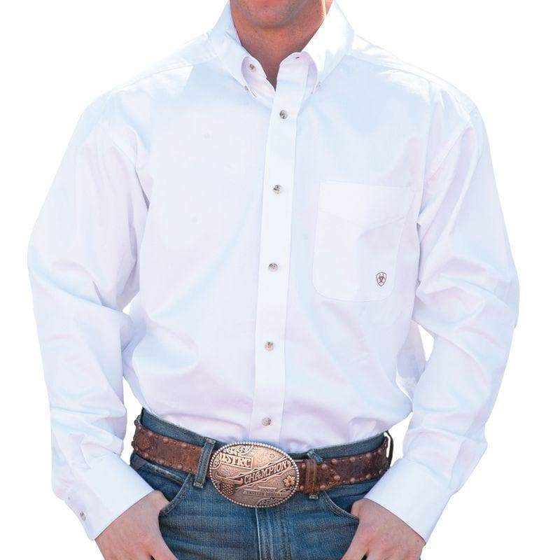Ariat Solid Twill White Shirt