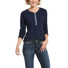 Load image into Gallery viewer, ARIAT REAL DENIM TRIM LS TOP