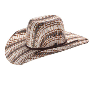 Ariat Brown Woven Kids Straw Cowboy Hat