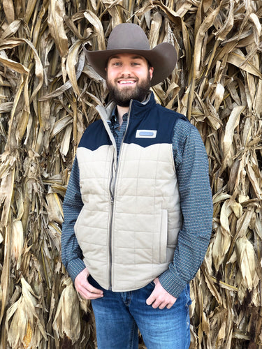 Cinch Color Block Canvas Vest