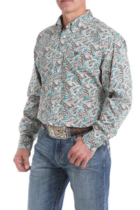 Paisley Cinch Button Up