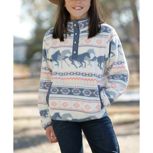 Running Horse Fleece Pullover