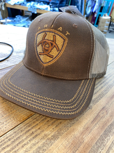 ARIAT BROWN OILSKIN CAP