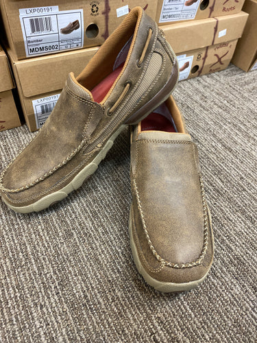 Twisted X brown DRIVING MOC SLIP ON