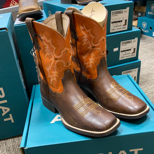 Ariat Tombstone Orange Kids Boot