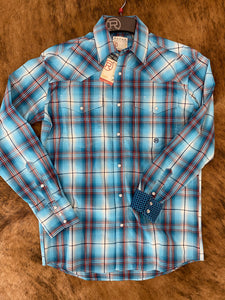 Roper Autumn Sunset Plaid Snap
