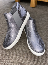 Load image into Gallery viewer, Harlan Pewter Snake Sneaker