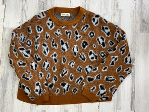BROWN CHEETAH SWEATER