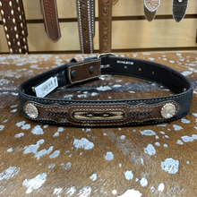 Load image into Gallery viewer, Boy's Black Southwestern Leather Belt
