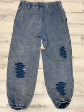 Load image into Gallery viewer, Indigo Stone Ripped Joggers