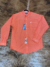 Load image into Gallery viewer, Cinch Orange Print Button Up Shirt