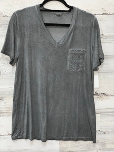 Charcoal Lace Pocket Tee