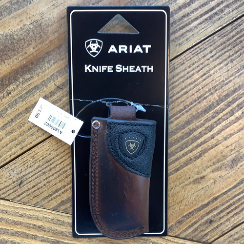 Ariat Brown Leather Knife Sheath