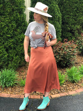 Load image into Gallery viewer, Silk Midi Skirt